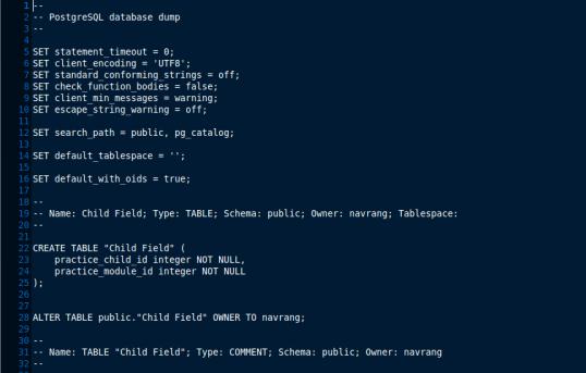 OpenERP restore database process