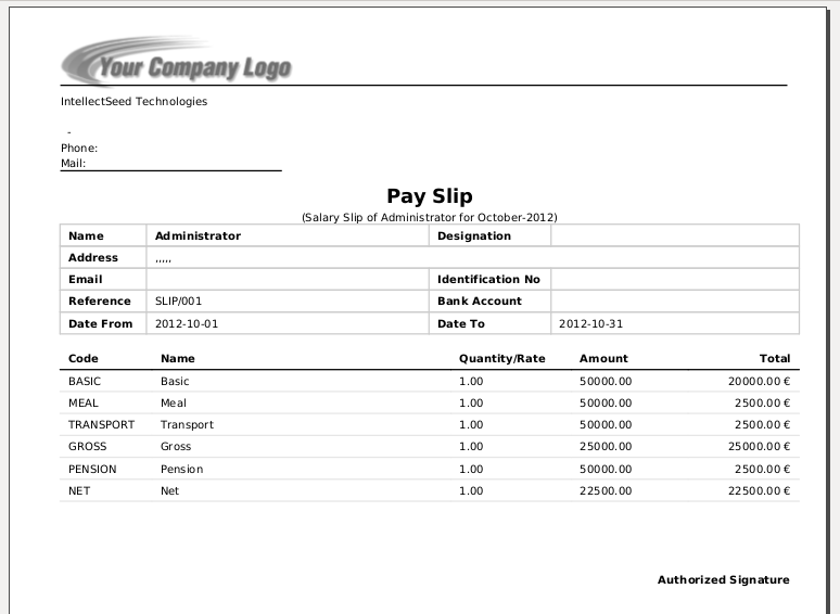 Doc529737 Payslip Sample Payslip Format Word and Excel – Employee Payment Slip Format