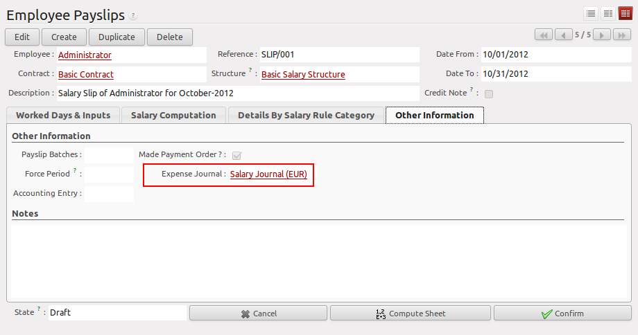 How to configure Payroll in OpenERP ? | Acespritech