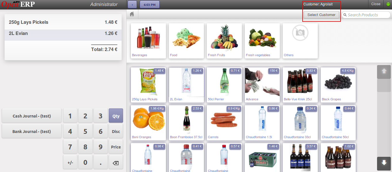 Add Products in POS