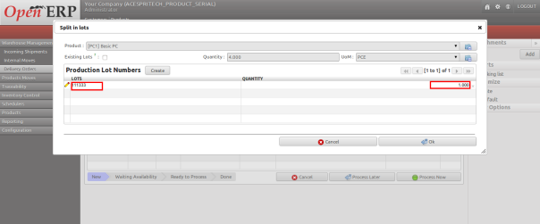 sap assign serial number to delivery