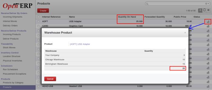 OpenERP Product quantity