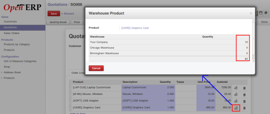 OpenERP product quantity in sales