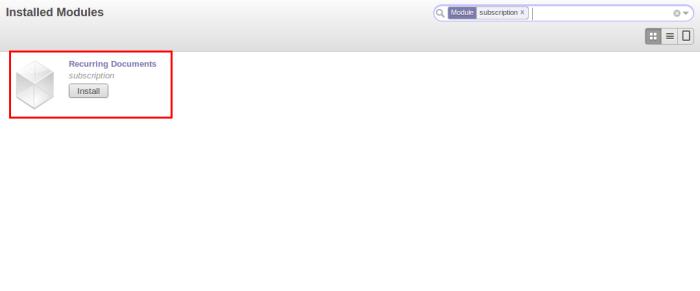 OpenERP Subscription Module
