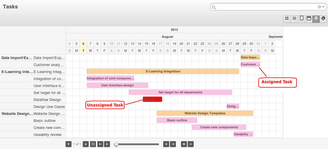 Openerp web enhancement in gantt chart acespritech solutions pvt openerp gantt chart month view ccuart Images