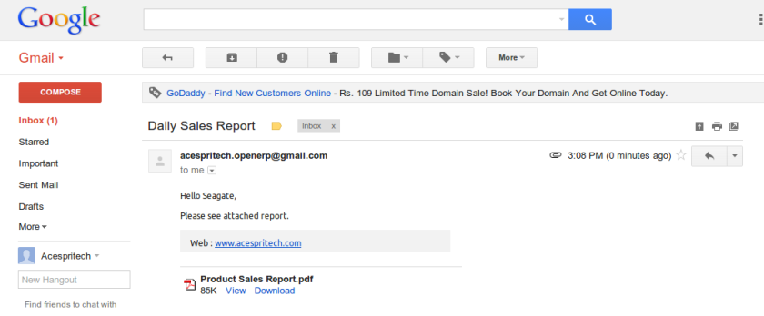 OpenERP Email