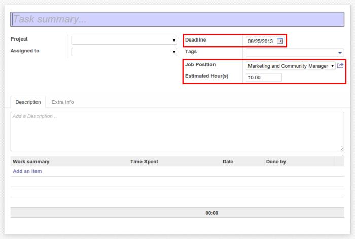 Task Form Default Value