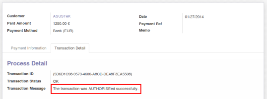 Authorize Transaction