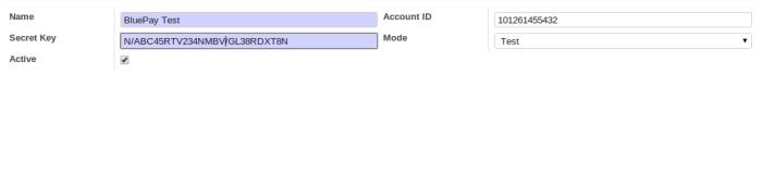 OpenERP BluePay Configuration