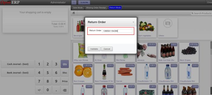 OpenERP POS Return Order Number