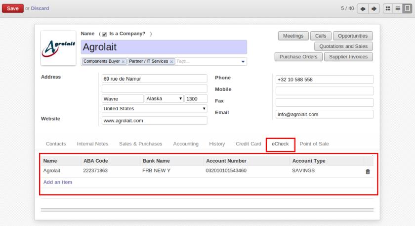 eCheque Configuration