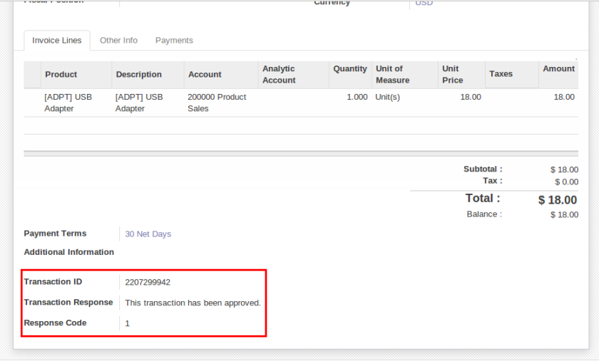 Authorize Net Echeque Integration With Openerp