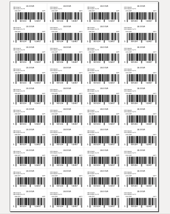 Full page with barcodes