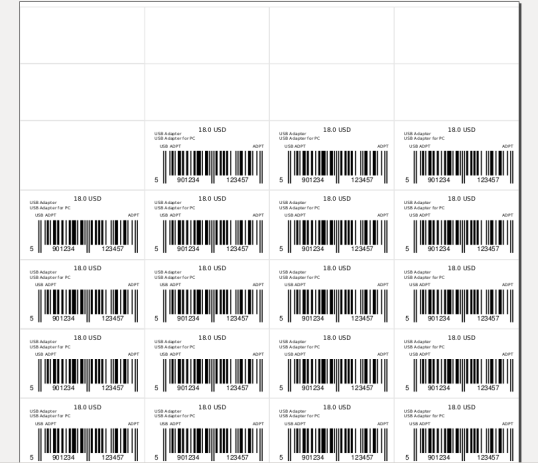 Change barcode position