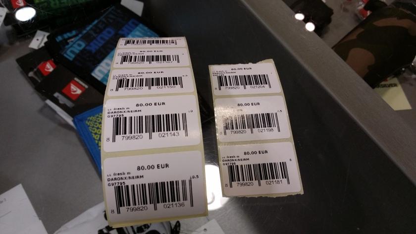 Live barcode print