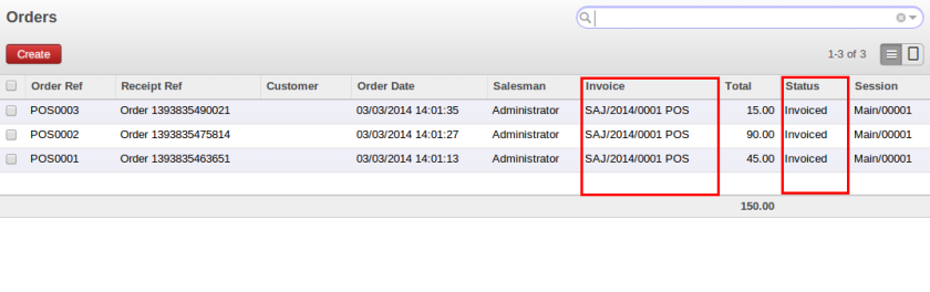 POS Order after invoice validation