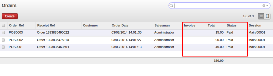 POS Order after cancel invoice