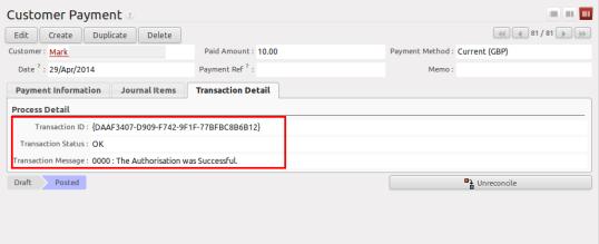SagePay Transaction Success