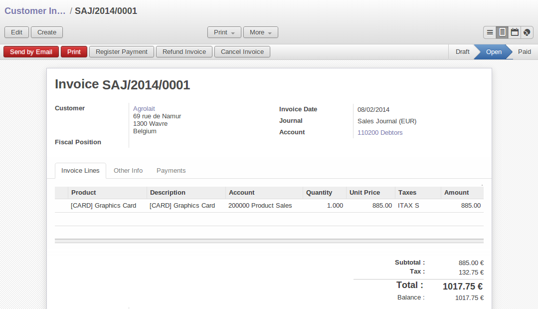 How To Write-Off In Openerp/Odoo Accounting | Acespritech