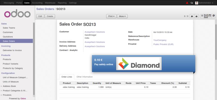 Odoo Sales Order