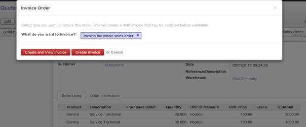 Confirming Sale Order