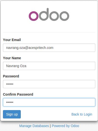 Odoo portal partner signup