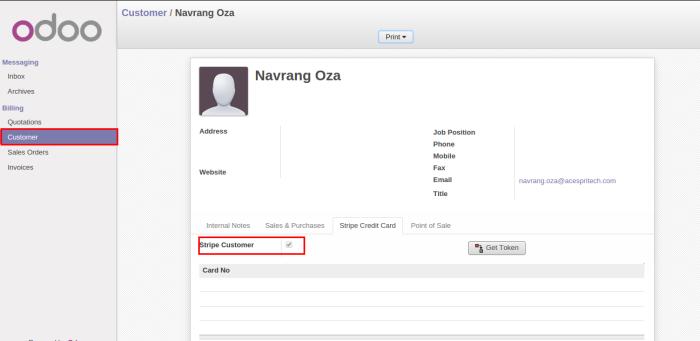 Odoo portal customer