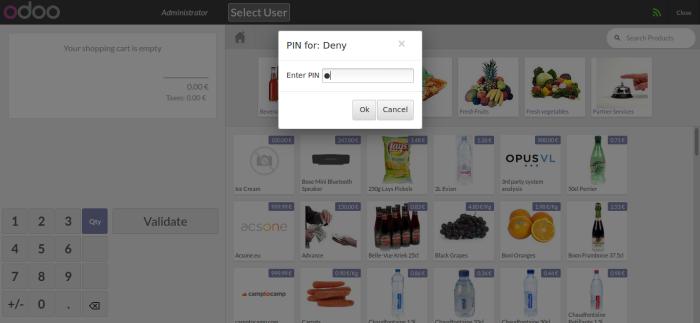 Enter user pin