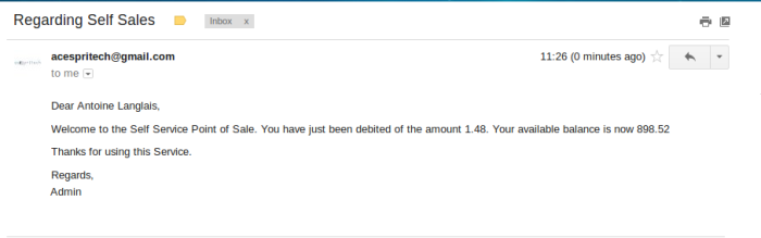 Transaction Email