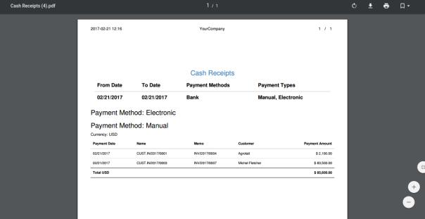 Cash Receipt Report