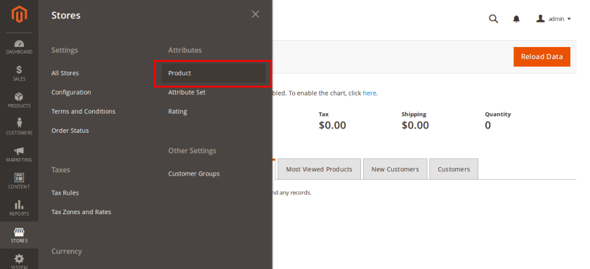 custom attributes for product