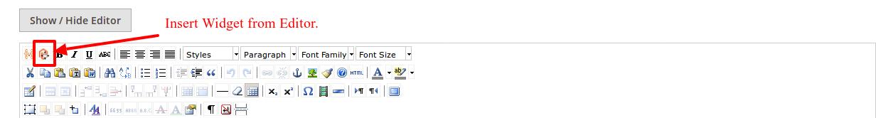 Insert widget from Editor