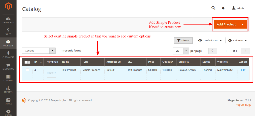 Magento Catalog Product