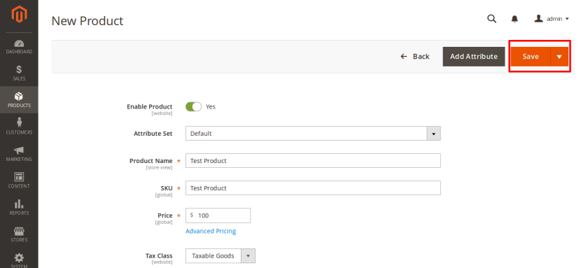 Magento Sample Product Fields