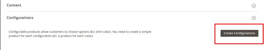 New Product Create Configurable option