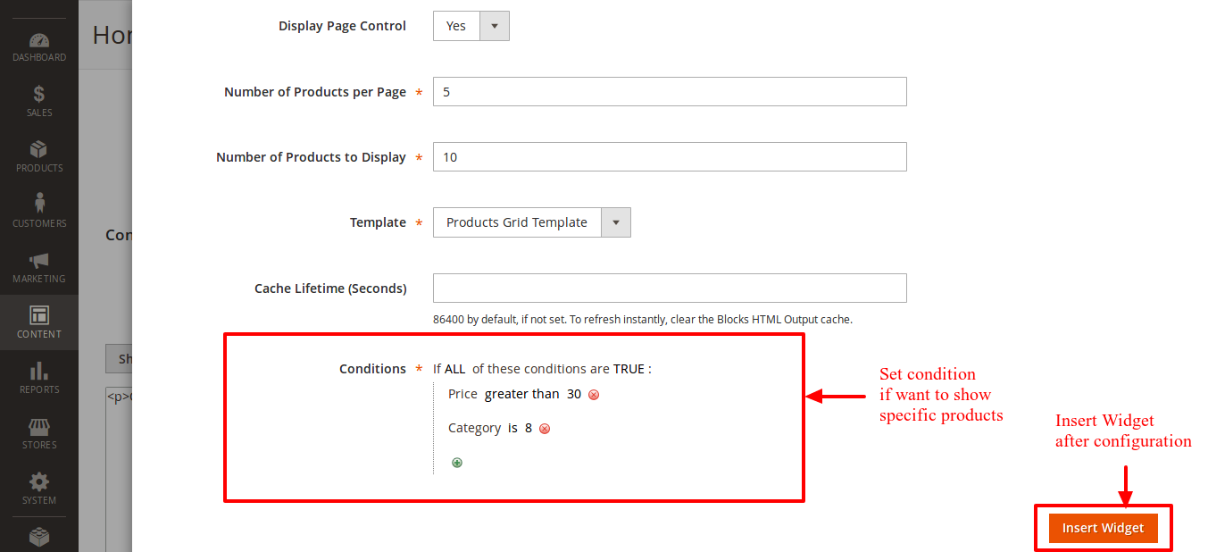 Use Condition for specific data fetch on page