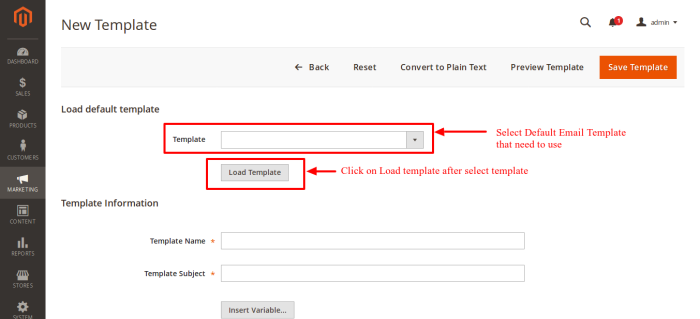 Load Default Email Templates