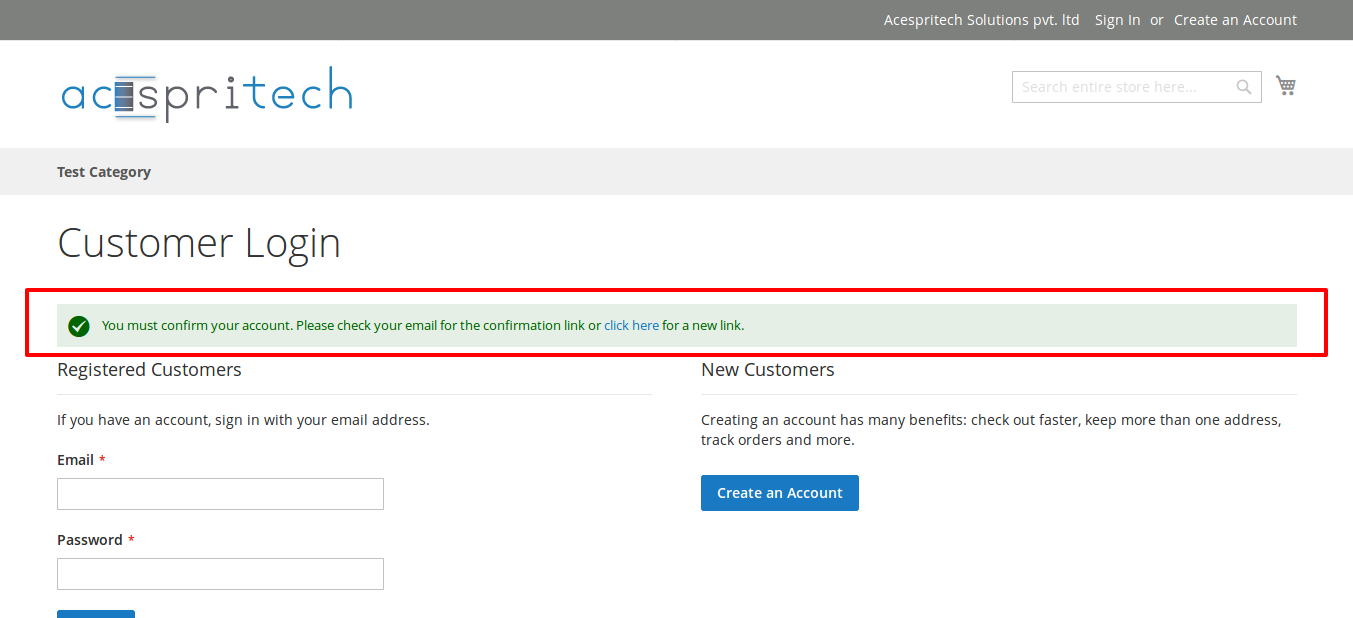 How to enable customer email verification on registration in