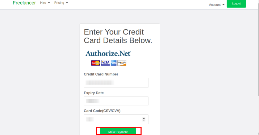 Django -Aauthorizenet Payment Gateway
