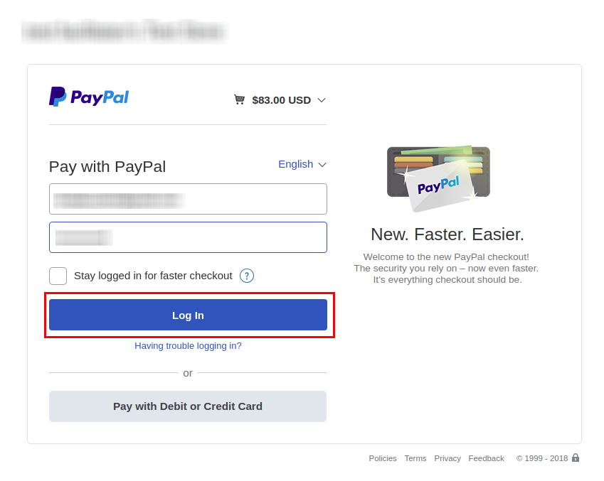 Django Jobseeker Paypal Login Screen