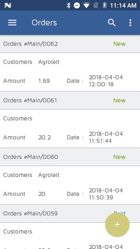 Odoo POS Order List